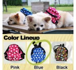 Kawaii Spotted Pet Backpack Harness with Leash (Blue/S)