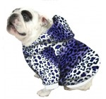 English Bulldog Dog Sweatshirt Beefy Purple Leopard