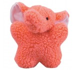 Zanies Cuddly Berber Fleece 8-Inch Babies Dog Toy, Elephant, Pink