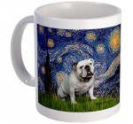Starry Night English Bulldog Mug Mug by CafePress