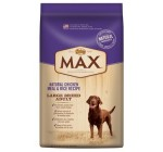 Max Dog Natural Chicken Meal and Rice Recipe Large Breed Adult Dog Food, 30-Pound