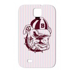Bulldog Rocknroll Clothes Funny Hip Hop Basecap Pet USA Cool Music Slacker Rap Hound Walk Wear Sweater Tv Baseball Comic Miscellaneous Bulldog House Pink Case For Sumsang Galaxy S4 TPU