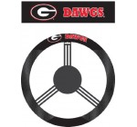 NCAA Georgia Bulldogs Poly-Suede Steering Wheel Cover