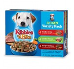 Kibbles 'n Bits Wet Dog Food Variety Pack, 12/13.2-Ounce Cans (Pack of 2)