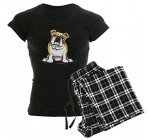 CafePress Cute English Bulldog Women's Dark Pajamas Women's Dark Pajamas – XL Reviews