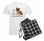 CafePress Bulldog Dad Pajamas Men's Pajamas – L With Checker Pant Reviews