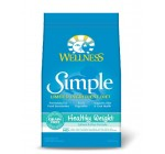 Wellness Simple Natural Grain Free Limited Ingredient Dry Dog Food, Healthy Weight Salmon & Peas Recipe, 24-Pound Bag
